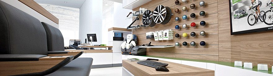 official stencil paint for car dealers skoda auto 4 show room. Black Bedroom Furniture Sets. Home Design Ideas